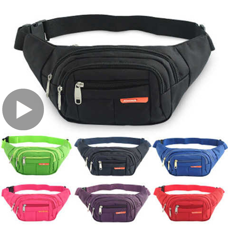 Belly Banana Bum Hip Chest Belt For Men Women Waist Bag Male Female Fanny Pack Pouch Murse Purse Kidney Phone Canguro Beltbag