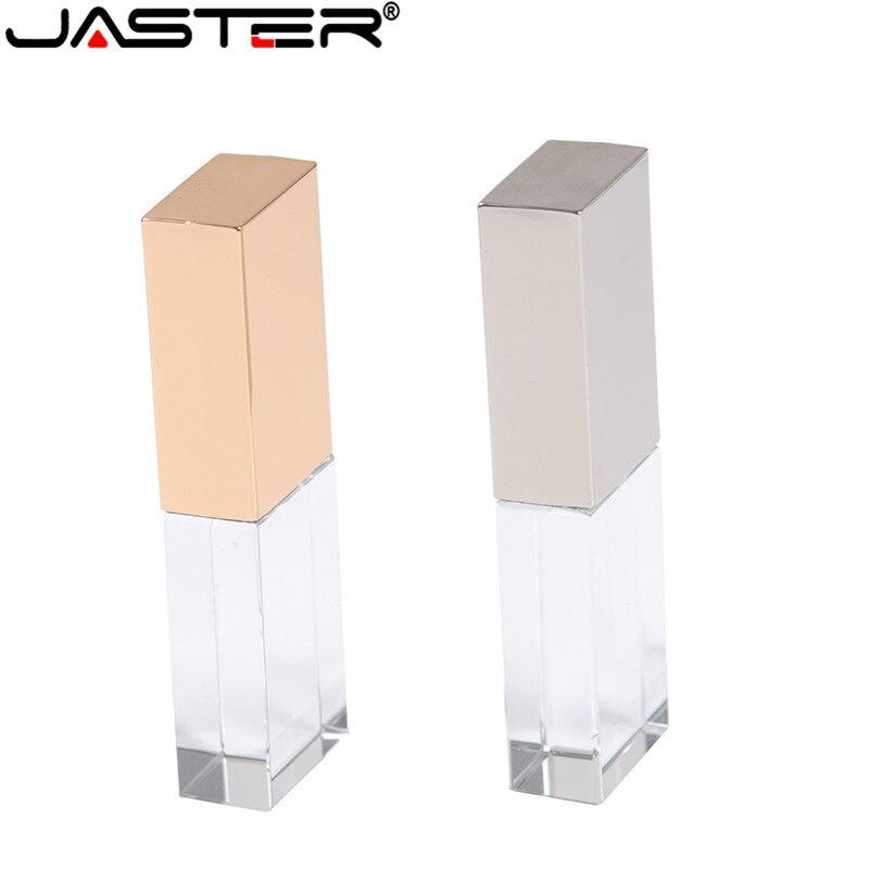 JASTER Fashionable Crystal Style USB Flash Pen Drive USB 4GB 16GB 32GB 64GB USB 2.0 Gift Pendrive Cle Usb (Over 10pcs Free Logo)