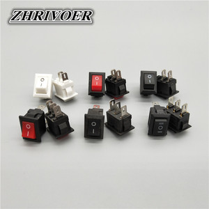 5pcs KCD5 3A/250V 10*15mm SPST 2/3Pin ON/OFF Boat Rocker Switch Car Dash Dashboard Truck RV ATV Home