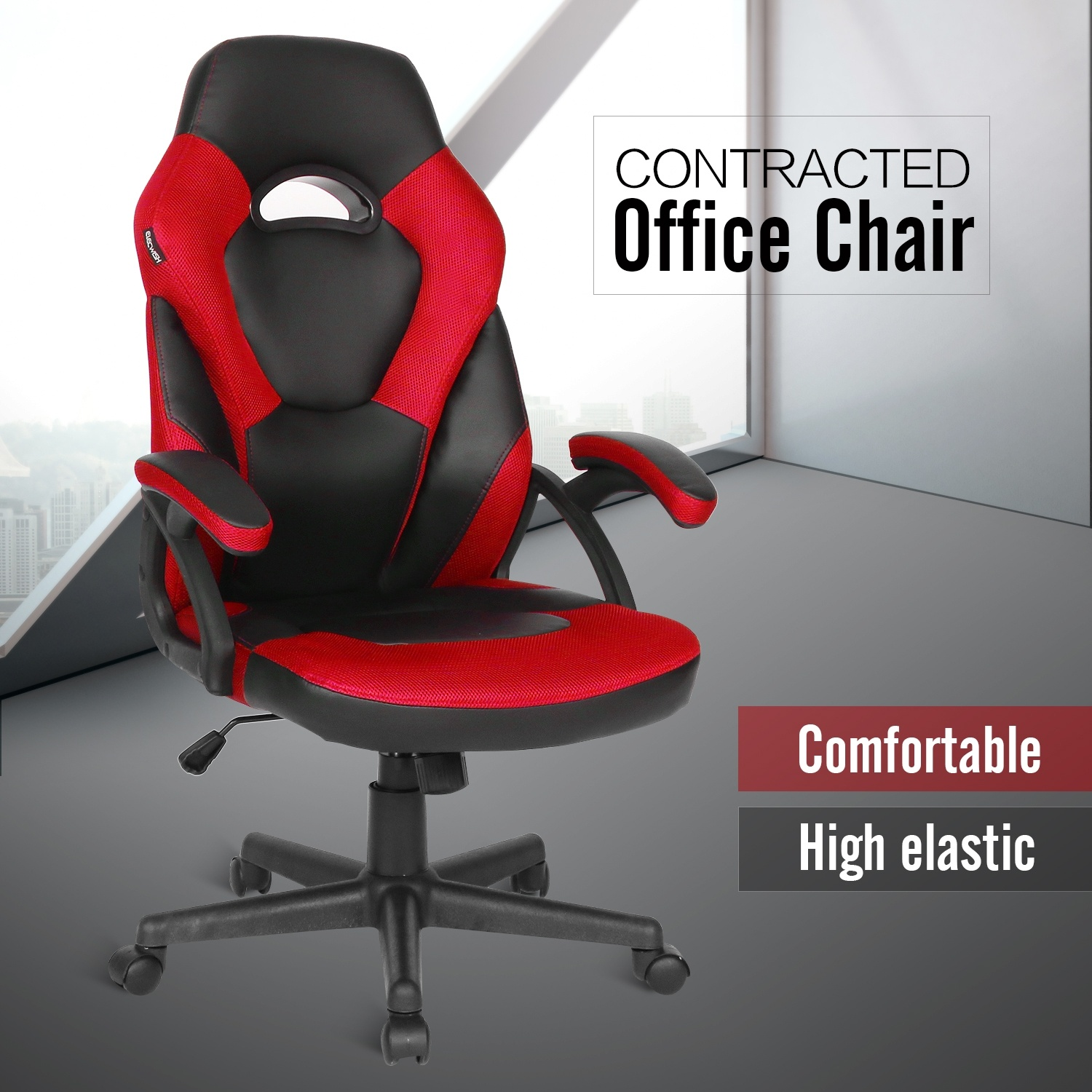 Video Gaming Chair Office Racing Recliner Leather Swivel Computer Seat
