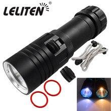 XML L2 LED Sea Diving Submarine Yellow Light  Waterproof  Flashlight Marine Torch