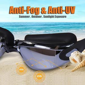Image 3 - Профессиональные очки для плавания ming HD противотуманные 100% УФ Регулируемые очки с ремнем для плавания очки для взрослых водонепроницаемые очки по рецепту
