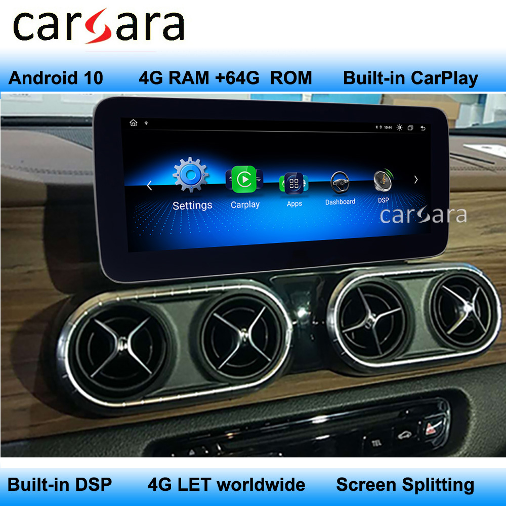 Newest <font><b>Android</b></font> Screen X Class Navigation <font><b>W447</b></font> Monitor Car Multimedia Player Comand Radio Display Modify Built-in Carplay image