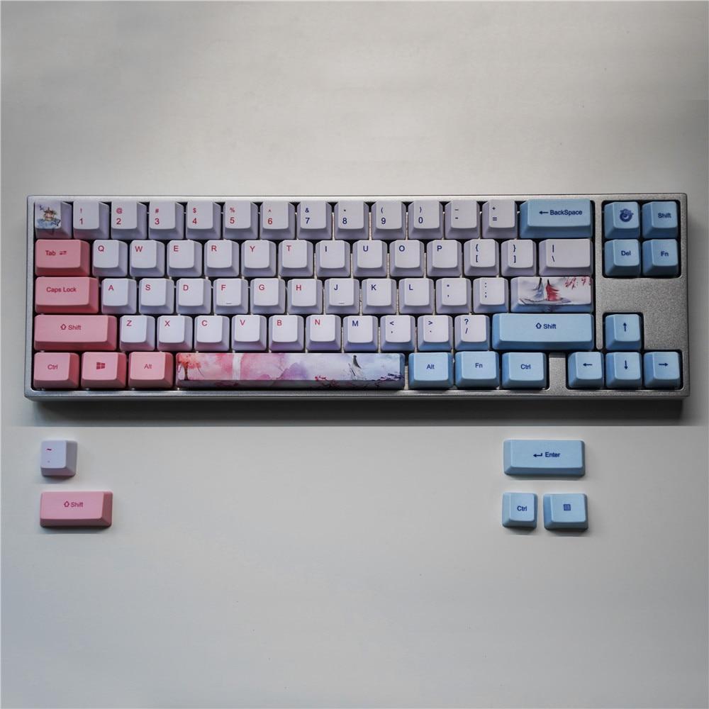 1 Set PBT Dye Sublimation Key Cap For MX Switch Mechanical Keyboard OEM Profile 60% Keycap For Anne GK61/68 GH60 GK64 Varmilo 68