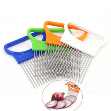1PC Kitchen Favor Fruit Vegetable Onion Tomato Holder Slicer Cutting Slicing Cutter