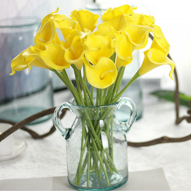1PC PU Mini Tulips Artificial Flowers For Home And Wedding Decoration Flowers 27