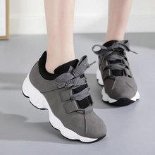 2019 otoño e invierno nuevas zapatillas de moda coreana mujeres zapatos para correr informales zapatos deportivos transpirables al aire libre C34-58