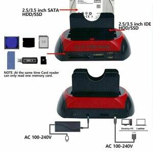 Image 3 - オールインワン IDE SATA 2.5 インチ 3.5 インチデュアルハードドライブ Hdd ドッキングステーションドック USB ハブカードリーダーオフィスホームコンピュータ