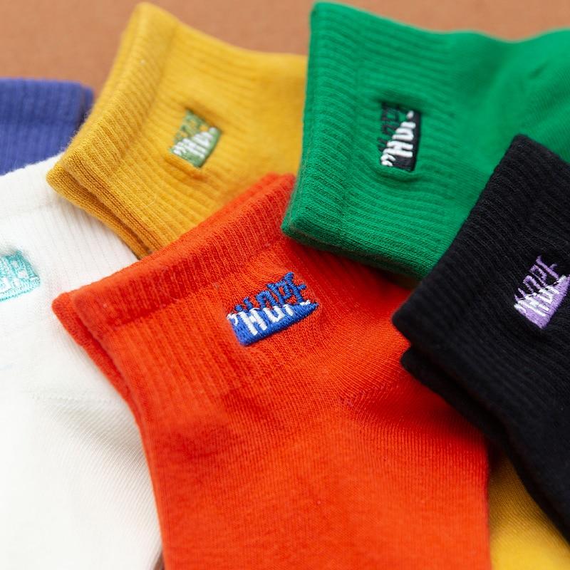 3 Pairs/Pack Kawaii Embroidered HOPE Women Socks Cotton Harajuku Cute Ankle Socks Women Size 35-40