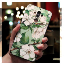 For huawei nova 5t case Honor 20 Phone Cases Cover 3D Emboss Cute Pear Flower Rose Leaf Soft Silicone TPU Girl Back Coque Capa(China)