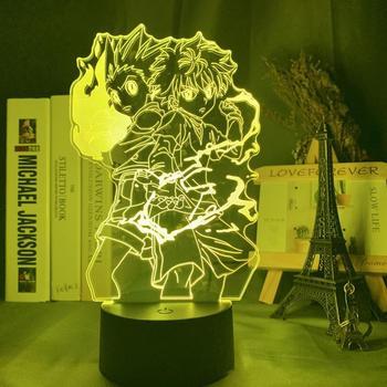 Gon And Killua Figure 3d Night Light Anime Hunter X Hunter Light For Kid Bedroom Decor Lighting Child Gift HxH Lamp Bedside