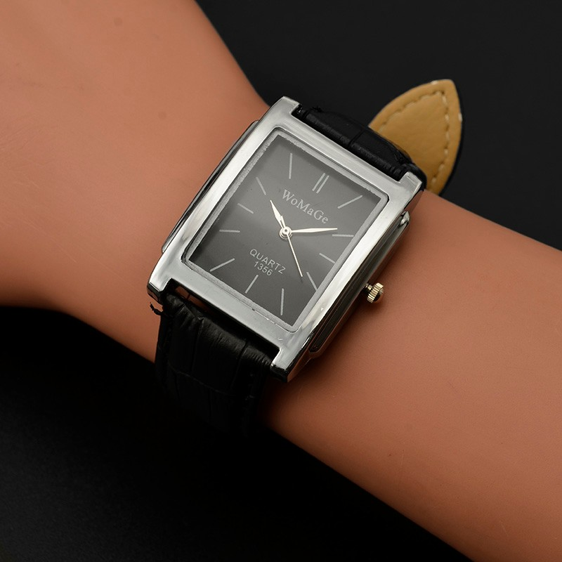 Womage Wristwatch Fashion Women Watches Rectangle Quartz Watches Casual Ladies Watches Horloge Dames Montre Femme Relog Mujer