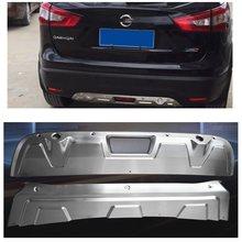 Stailess aço matel amortecedor traseiro dianteiro exterior acessórios do carro protetor patim guarnições guardas placa apto para nissan qashqai 2017-18
