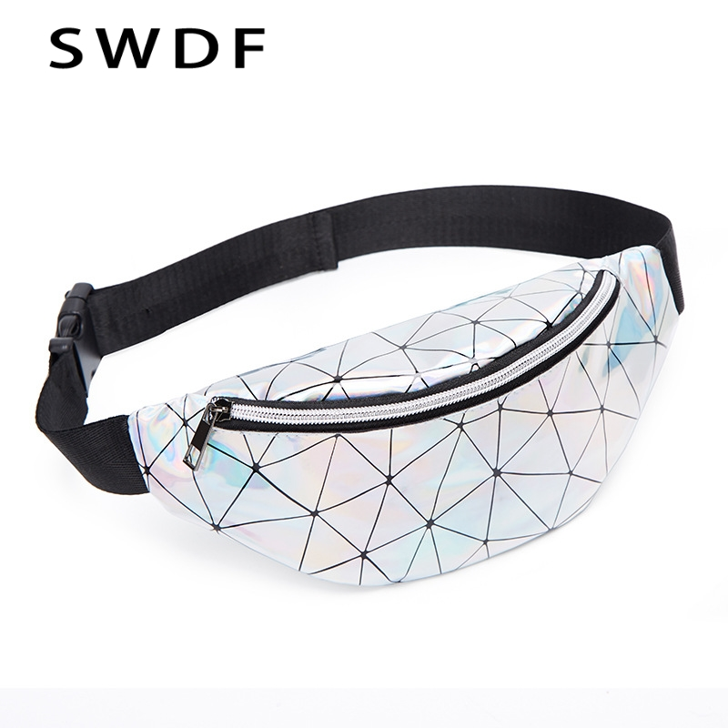SWDF Waist Bags Women Designer Fanny Pack Fashion Belt Purse Banana Waist Packs Women's Belt Bag Kidney Laser Chest Phone Pouch(China)