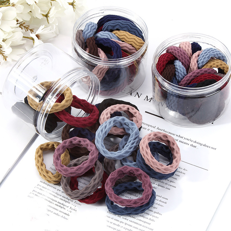 10PCS/Lot Women Girls 4.5CM Nylon Elastic Basic Hair Bands Ponytail Holder Rubber Bands Scrunchie Headband Hair Accessories Gift