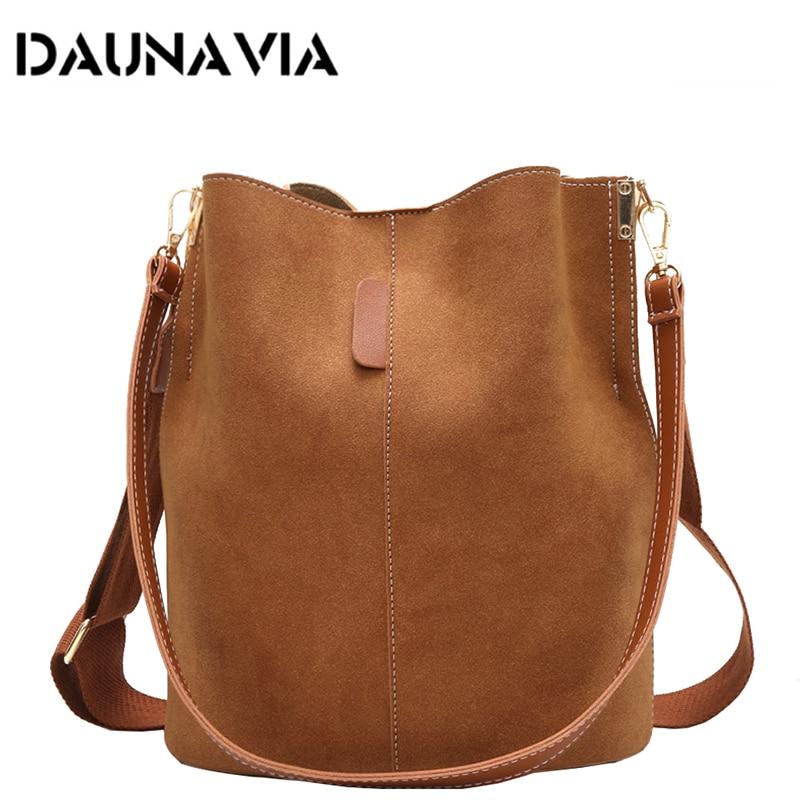 Women Bucket Shoulder Bag Messenger Bag Large Capacity Vintage Matte PU Leather Lady Handbag Luxury Designer Bolsos Mujer Black