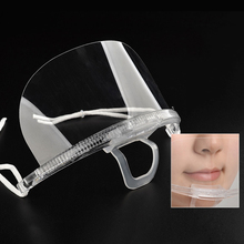 5pc Transparent Environmental Plastic Mouth Face Masks Tattoo Microblading Accessories for Restaurant/ Beauty Salon/ PMU Supply