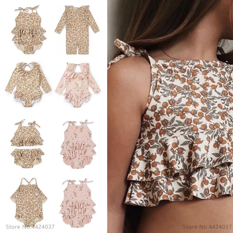 KS для маленьких девочек, купальный костюм одежда на возраст от 18 мес. до 9 лет с цветочным рисунком, детский бренд, Kawaii BB Mr одежда детские купа...