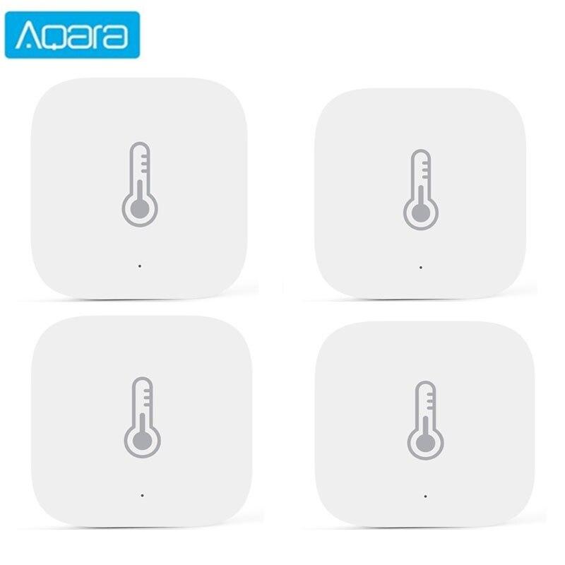 Aqara sensor de temperatura inteligente sensor de ar pressão umidade ambiente controle inteligente conexão zigbee para xiaomi app mi casa