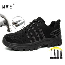 Men's Shoes Work-Boots Industrial-Shoes Safety Security Puncture-Proof Steel-Toe Portable