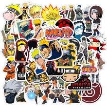 50 Stks/set Japan Anime Naruto Sticker Sasuke Cartoon Voor Snowboard Laptop Bagage Koelkast Auto-Styling Stickers