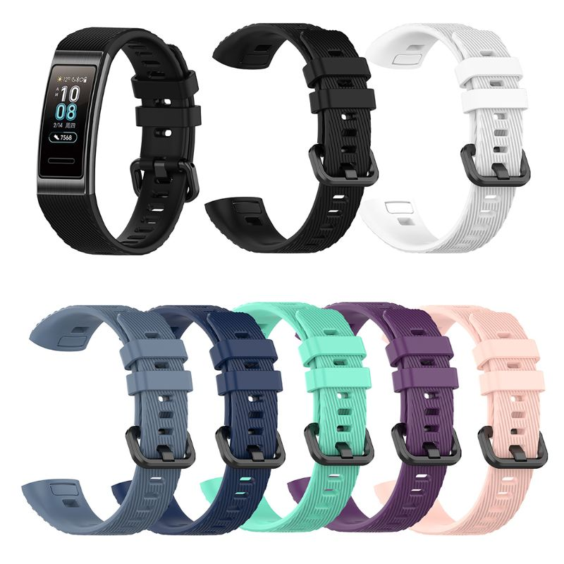 Antislip Silicone Wrist Band Breathable Sport Watch Strap for Huawei Band 4 Pro H37B Smart Accessories    - AliExpress