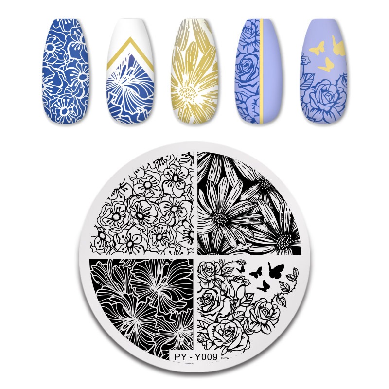 PICT YOU 12*6cm Nail Art Templates Stamping Plate Design Flower Animal Glass Temperature Lace Stamp Templates Plates Image 24