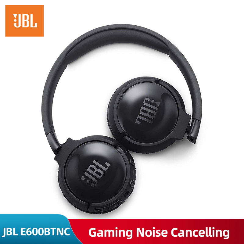 Noise Cancelling JBL T600BTNC Bluetooth Wireless Headphone JBL Gaming Headset Wireless Ear-mounted AUTO Noise Reduction Earphone  - buy with discount