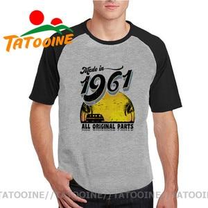 Made in 1961 All Original Parts T Shirt Fashion Men woman Cotton Tee Shirt Vintage Streetwear 60th Birthday Gift TShirt Camiseta(China)