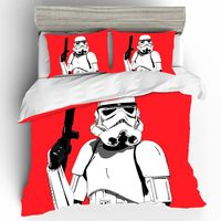 Star wars Bedding Set Single Double Queen Cotton Poplin Quality Qualified Stripes Luxury Bed Linen Cotton Duvet Cover King Size