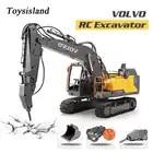 RC Escavatore 2.4Ghz di Controllo Remoto Escavatore Cingolato VOLVO Idraulico Macchina di Ingegneria Diecast Modello di Auto Giocattolo per il Regalo Dei Capretti