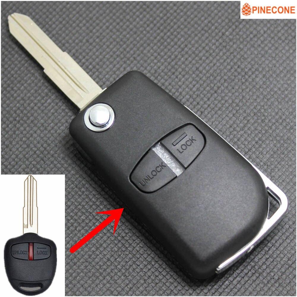 3 Button for Mitsubishi Flip Key Replacement Housing Shell Case Blank Uncut