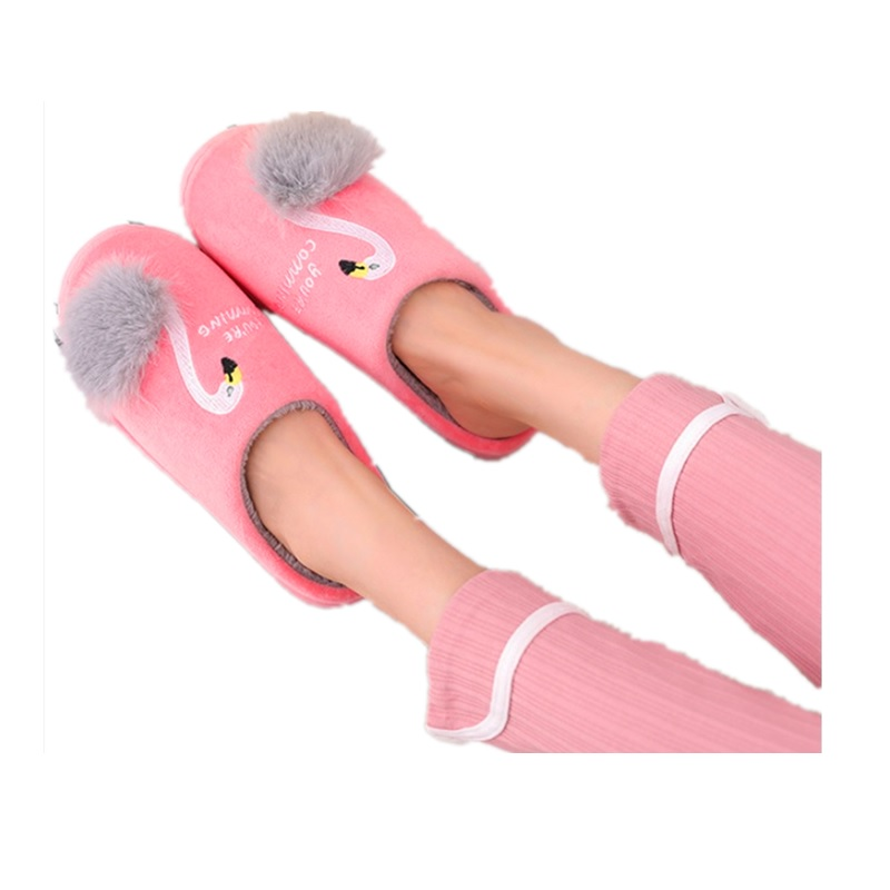2020 NEW Women Home Slippers Winter Warm Shoes Woman Slip On Flats Slides Female Faux Furgirls  Slippers 36-41