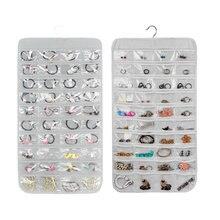 80 bolsos colar pulseira brinco jóias pendurado acessórios dupla face exibição guarda-roupa organizador de armazenamento saco transparente