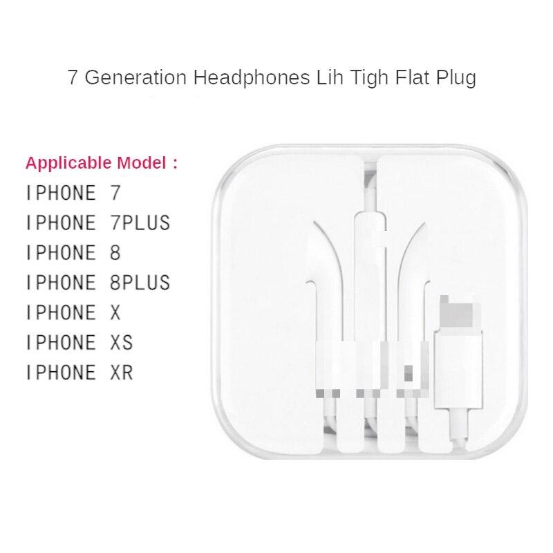 Para iphone fone de ouvido estéreo com microfone com fio bluetooth para iphone 7 8 plus x xr xs max 11 11 pro portátil