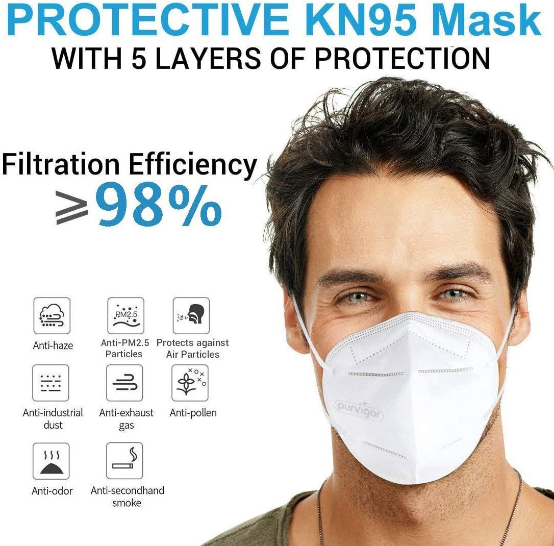 3PCS-15PCS KN95 Mask Anti Dust KN95 Face Mask 4-Layer PM2.5 Protective 95% Filtration Ant  Against Droplet Mouth Cover