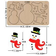 Matrices de découpe en bois, bonhomme de neige de noël, Scrapbooking, nouveauté C 1383, tailles multiples