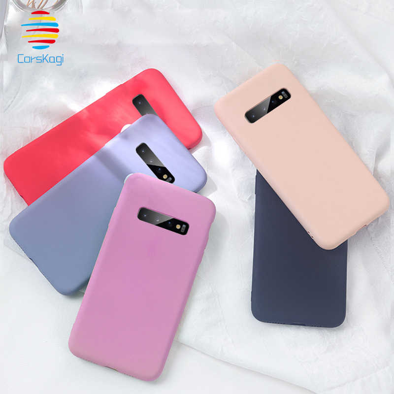 Anti-Drop Soft Silicone Bumper Case Cover for Samsung Galaxy S10 5G S10e S8 S9 Plus S6 S7 edge Note 9 8 5 S10+ TPU Case Cover