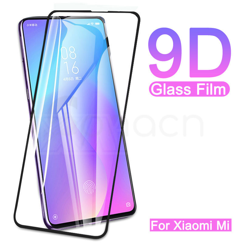9D Full Cover Glass On Xiaomi Mi 10 9 Lite 9T Tempered Glass For Xiaomi A3 A2 Lite A1 9 SE 6 6X 5X Screen Protector Glass Film(China)