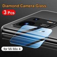 3 pezzi per Xiaomi Mi Mix 4 fotocamera Len pellicola protettiva per lenti in vetro temperato 9H 2.5D Diamond Camera len Xiomi Mi Mix4 Glass