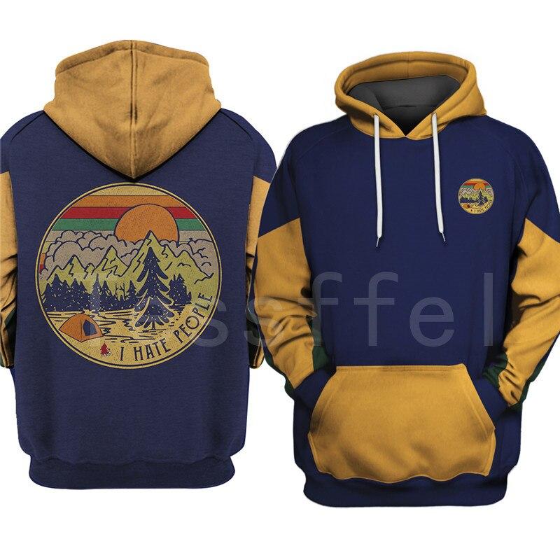 Tessffel Animal Bear Hunting I Hate People Love Camping Funny NewFashion 3DPrint Zipper/Hoodies/Sweatshirts/Jacket/Men/Women S18