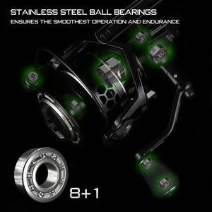Image 5 - Seaknight Archer 5.2:1 4.9:1 Spinning Reel Max Drag 13Kg 8+1BB Carp Fishing Reel 2000 6000 Aluminium Spool Spinning wheel carret