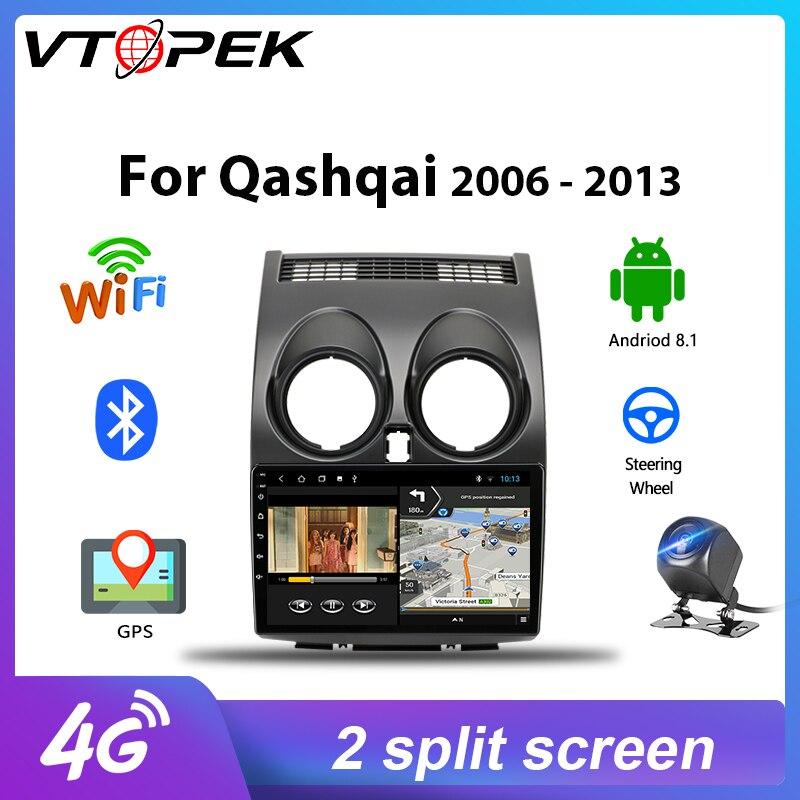 Vtopek 2G+32G Android DSP For Nissan Qashqai 2006-2013 J10 Car Radio Multimedia Video Player Navigation GPS 4G net Head Unit