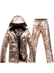 Ski-Suit Waterproof Women Warm Winter Models Veneer Couple Double-Board Thickening And