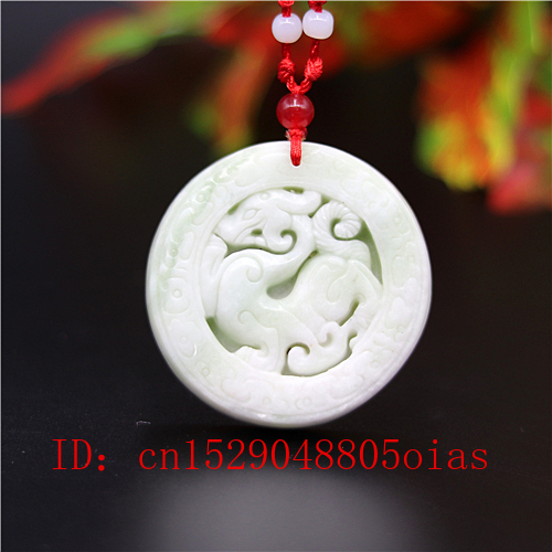 Natural White Chinese Jade Dragon Pendant Necklace Charm Jewellery Carved Amulet Fashion Accessories Gifts For Women Men
