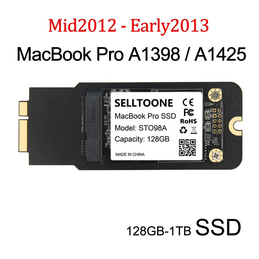 Новый 128 Гб 25 ГБ 512 ГБ 1 ТБ SSD для 2012 2013 Macbook Pro Retina 13