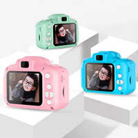 Rechargeable Kids Mini Digital Camera 2.0 Inch HD Screen 1080P Video Recorder Camcorder Language Switching Timed Shooting #S
