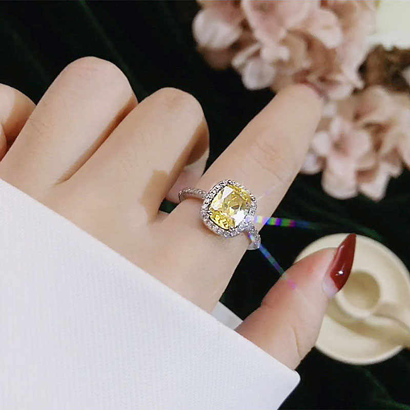 CC Anelli Per Le Donne Anelli Gioielli Moda Anello di Fidanzamento In Oro Bianco Da Sposa da sposa di Colore Anelli CC595