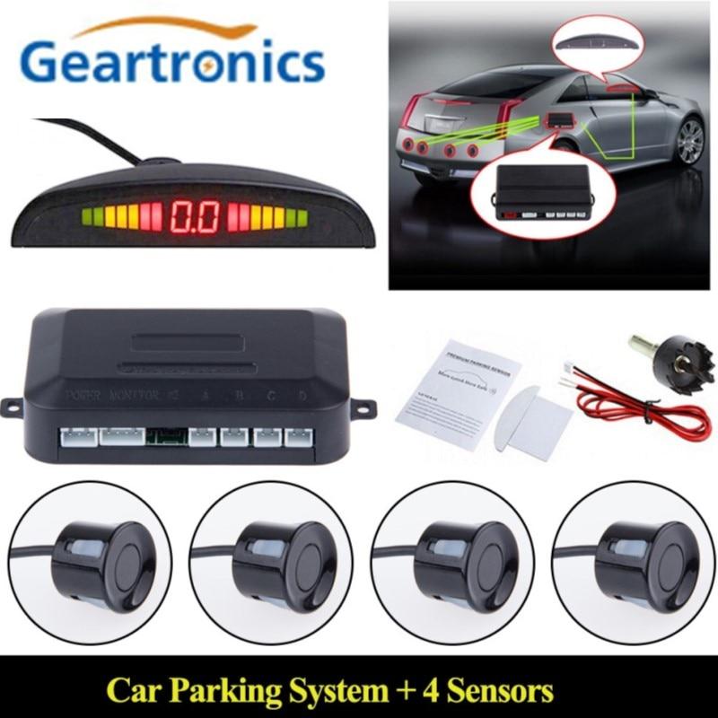 12V Car LED Parking Sensor Kit 22mm Blind Spot Sensors Backlight Display Reverse Backup Radar Monitor System Auto Parktronic-in Parking Sensors from Automobiles & Motorcycles