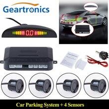 12V araba LED park sensörü kiti 22mm kör nokta sensörleri aydınlatmalı ekran geri park etme radarı monitör sistemi otomatik parktronik